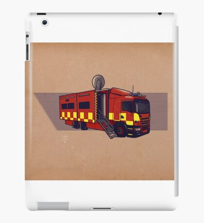 Fire & Rescue Mobile Command. antique paper background. iPad Case/Skin