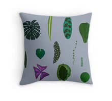 A non-scientific botanical investigation of the indoor plant Throw Pillow