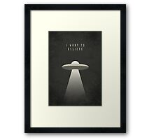 X Files - I Want To Believe (Textured) Framed Print
