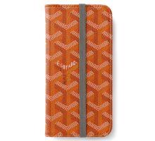 Goyard case orange iPhone Wallet/Case/Skin