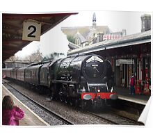 LMS 46233 'Duchess of Sutherland' at Teignmouth Poster