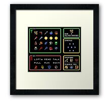 Link the the Past Item Menu Framed Print