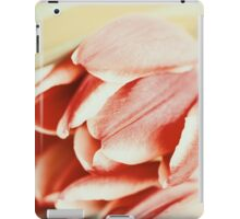 Flowers Bouquet Of Spring Wet Tulips On Table iPad Case/Skin