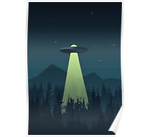 Forest UFO (Classic) Poster