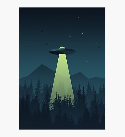 Forest UFO (Classic) Photographic Print