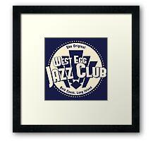 West Egg Jazz Club Framed Print