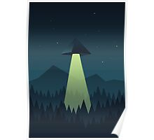 Forest UFO (Pyramid) Poster