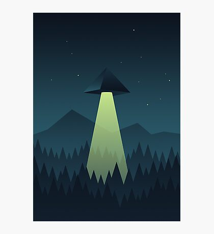 Forest UFO (Pyramid) Photographic Print