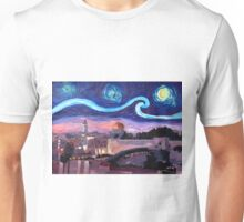 Starry Night in Jerusalem over Wailing Wall Unisex T-Shirt