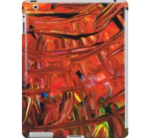 Red Abstract Art - Warm Garden - By Sharon Cummings iPad Case/Skin