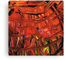 Red Abstract Art - Warm Garden - By Sharon Cummings Canvas Print