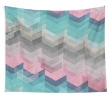 Colored Chevron Wall Tapestry