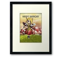 Cute Magical Fairy With Crystal Ball And Wand  Framed Print