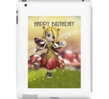 Cute Magical Fairy With Crystal Ball And Wand  iPad Case/Skin