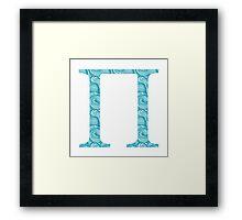 Blue Wave Pattern Pi Framed Print