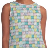 Mosaic texture  pattern Contrast Tank