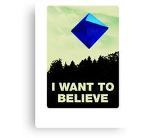 I Want to Believe in Ramiel [White] Canvas Print