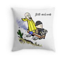 Jesse and Walt Throw Pillow