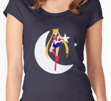 Sailor moon - moon stars Women's Fitted Scoop T-Shirt