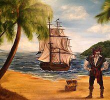 Pirate and Pirate Ship by jennhollis