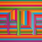 abstract multi color elephant embossed effect by Moonlake