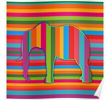 abstract multi color elephant embossed effect Poster