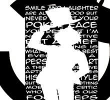 Kaito KID quotes logo Sticker