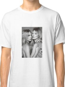Cara Delevingne + Kate Moss Black and white Classic T-Shirt