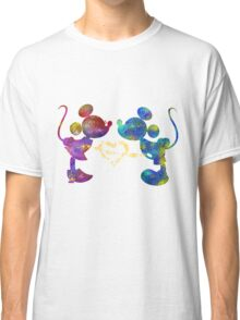 mickey and minnie watercolor  Classic T-Shirt