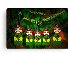 A Chinese Halloween Party Canvas Print