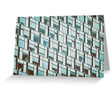 Business Building Windows Abstract Detail Greeting Card