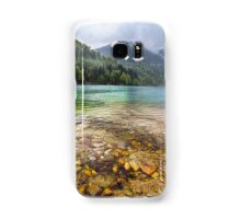 Lake in mountains, in a rainy day Samsung Galaxy Case/Skin