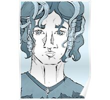 Fantasy man with curly hair Poster
