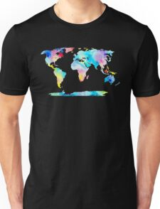 The Places We'll Go - Watercolor World Map Unisex T-Shirt