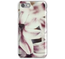 Wet Common Dutch Garden Hyacinth (Hyacinthus Orientalis) With Water Droplets iPhone Case/Skin