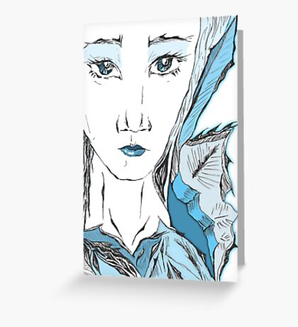 Ice woman, ice queen Greeting Card