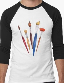 fan of brushes Men's Baseball ¾ T-Shirt