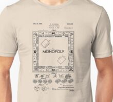 Monopoly Board Game US Patent Art 1935 Unisex T-Shirt