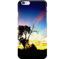 Tree in Australian outback sunset iPhone Case/Skin