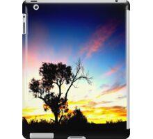 Tree in Australian outback sunset iPad Case/Skin