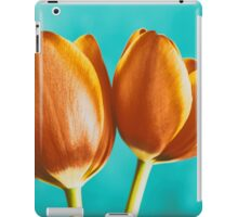 Red And Orange Tulips Flowers Bouquet iPad Case/Skin