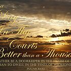 Doorkeeper -  Psalm 84:10 by JLOPhotography