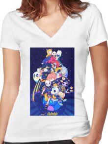 Undertale - Outertale! Women's Fitted V-Neck T-Shirt