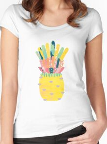 Pineapple Party Women's Fitted Scoop T-Shirt