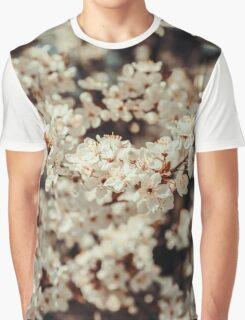 White Apple Tree Flowers Spring Blossom Graphic T-Shirt