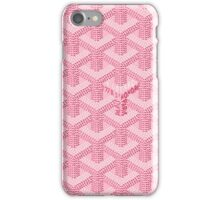 Goyard case pink iPhone Case/Skin