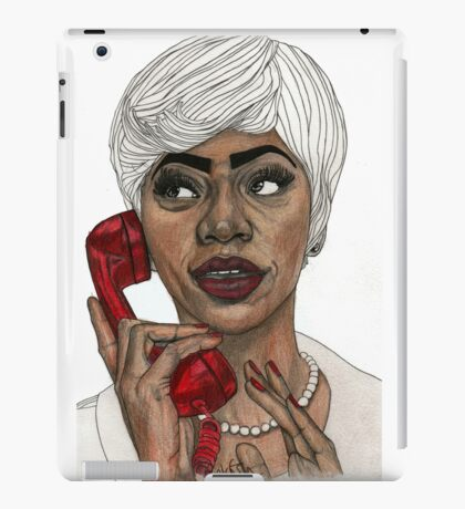Girl with the Red Telephone iPad Case/Skin