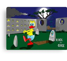 "Rick the chick ""ZOMBIE"" Canvas Print"