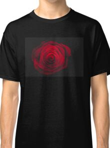 Red rose on black background vintage effect Classic T-Shirt