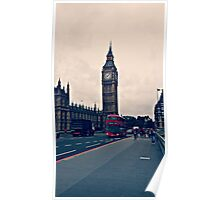 London - Big Ben and Red Bus Poster